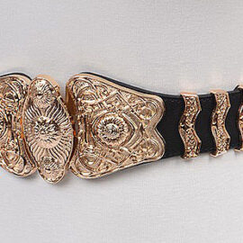 Elegant Baroque Design Elastic Belt